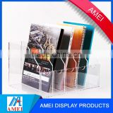 High clarity wall-mounted acrylic antique newspaper rack from dongguang supplier