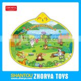 Educational Play mats with audio available in spanish and portuguese language prairie animals musical play mat with lights