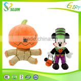 Fashion new emoticon plush emoji pillow OEM design custom funny cute soft stuffed plush halloween pumpkin toy