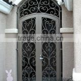 aluminum/ wrought iron/galvanized powder coated steel/Iron/ Decorative Metal Gate Designs