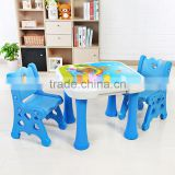 New design children's portable folding table and chairs plastic kids study writing table and chair set