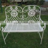 folding outdoor bench iron craft furniture