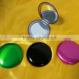 Folding metal round pocket mirror colorful make up mirror