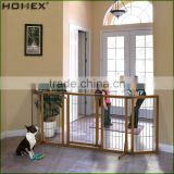 Large Dog Fence Pet Gate in wood and Steel Homex_BSCI Factory