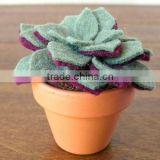 2017 hight quality new products hot sale interior home party decoration handmade felt artificial flower and foliages