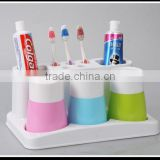 Family plastic toothbrush holder set with three cups