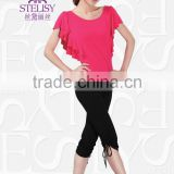 2015 Spring Summer Stretch Yoga Top and Pants Dance Costumes Fitness Apparel