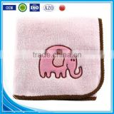 Trade assurance applique elephant custom 100%cotton terry baby blanket/throw blanket for wholesale