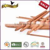 Charmkey natural bamboo knitting needle 12pcs single point crochet hook set to crochet bag