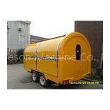 Food Service Trailer Vending Cart Fiberglass With  Four Windows