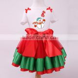 Christmas Snowman Tops Short Sleeve T-Shirt Bowknot Dress Skirt