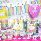 Hot Sale Unicorn Theme Birthday Wedding Party Decoration Kit Baby Shower Supplies 72pcs/set