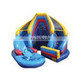 2014 New design Inflatable Water Slide with pool