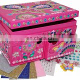 2015 new design DIY 3D Mosaic jewelry box /mosaic box/gemstone art box toys for kids