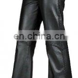 HMB-503A LEATHER WOMEN PANTS SANDRA STYLE LADIES PANTS BRAIDED
