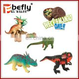 Most popular 3d dinosaur plastic puzzle toy in egg