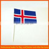 Promotional custom hand held flag with plastic flag sticks