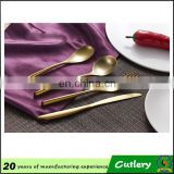 hotel and restaurant use gold plated flatware wholesale
