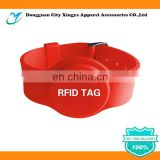 Factory price 13.56Mhz rfid silicone wristband