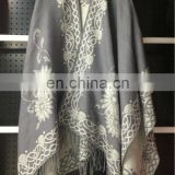sun flower winter acrylic poncho shawl&kick pleat scarf big scarf, wool shawl polyester scarf