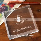 Factory price High quality clear acrylic book weight