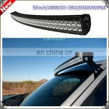 2014 Newest Curved 288w Offroad double Truck LED Light Bar For 4x4 SUV,Vessel,engineering truck etc.