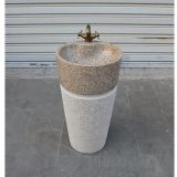 G682 Granite Pedestal Sinks,Yellow Granite Wash Basins, Nature Stone Bathroom Sinks