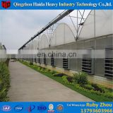 Prefabricated steel pipes frame multi-span film greenhouse