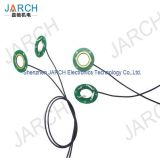 1 Circuit Ultra Thin Pancake Slip Ring Compact Hollow Shaft Slip Ring For Laboratory Equipment