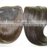 Natural looking Indian tassel bangs human hair
