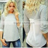 new chiffon long sleeve blouse cheaper loose causal t shirt for women fashion dress tops for women                                                                         Quality Choice