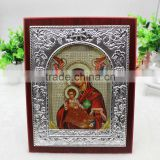 Orthodox Silver Color Icon MDF
