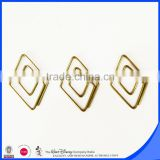 Gold color PET wire geometry shape paper clip blister backer card package