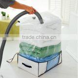 Plastic and Non Woven Double Bag Vacuum Box Storage Bedding Compressed 4 Times More Space