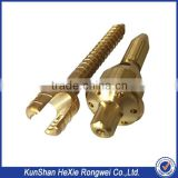Oem machining process golden anodized aluminum cnc lathe parts                                                                                                         Supplier's Choice