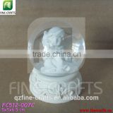 Polyresin angel sculpture religious water ball decoration
