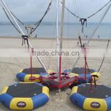 4 in 1 mobile inflatable bungee jumping trampoline/bungee jumping/bungy jumping trampoline for sale