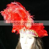 Women Hair headdress With Ostrich Feather