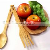 Useful wooden fork and spoon set