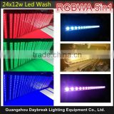 24pcs x 12w led bar light stage wall wash RGBWA 5in1 DMX512 , single point control , all control , Auto color change Or DMX512