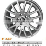 "alloy wheel,VW 17""x7.0 450"