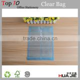 Plastic Clear A4 PP File Folder Bag With Button