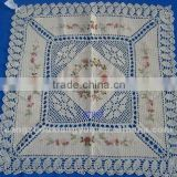 Fashion hand knit crocheted table cloth for home,hotel,party ,wedding,banquet decoration