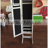 Wooden MDF frame mirror with jewelry box dressing mirror with jewelry box home furniture