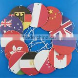 2016 new arrival factory price customized shape unscented air freshener paper