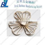 Alloy hollow out flower shape metal shoe buckle for decoration