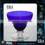 Wholesale Hand Made Large Sprayed Colored Glass Ice Cream Cup