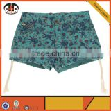 Latest Design Wholesale Booty Women Shorts with Custom Printed
