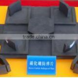 Bulletproof Boron Carbide B4C Ballistic Armour Plates material With Hardness of 9.3