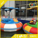 Best Quality Water Play Equipment UFO Shape Battery Operated Adults Laser Bumper Boat For Pool And Lake